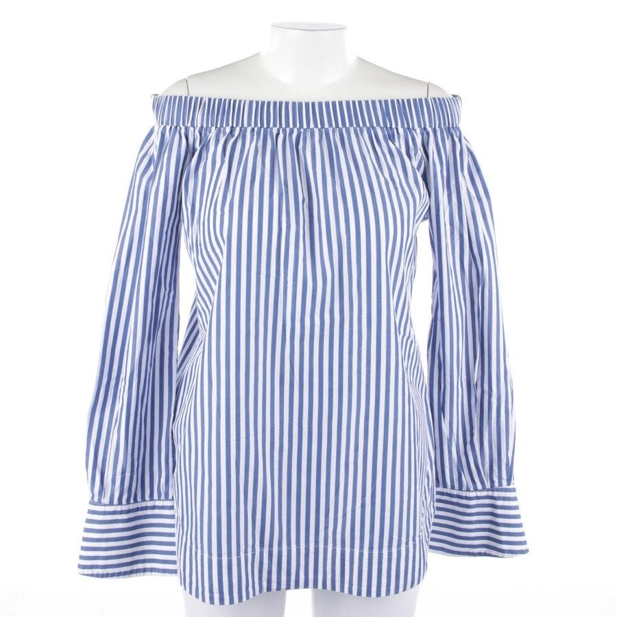 Blusenshirt von Pinko in Blau und Weiß Gr. 38
