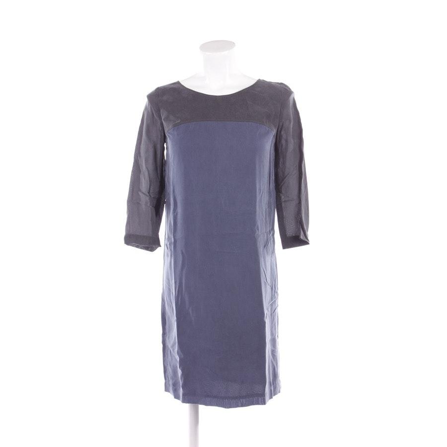 Kleid von Hugo Boss Orange in Blau und Grau Gr. DE 34