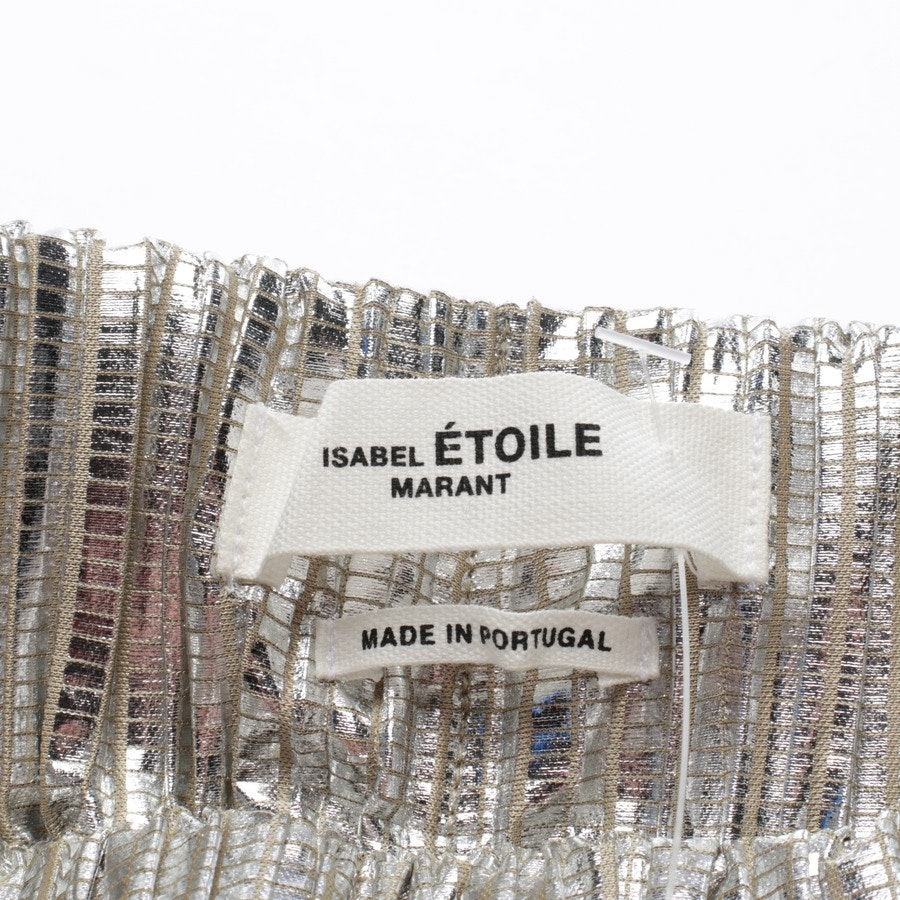 Rock von Isabel Marant Étoile in Silber Gr. 34 FR 36