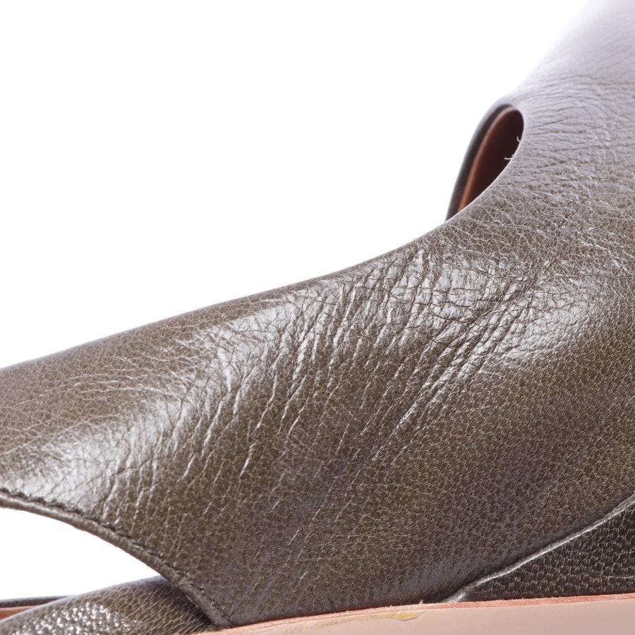Slingbacks von Pollini in Olivgrün Gr. D 37 - Neu