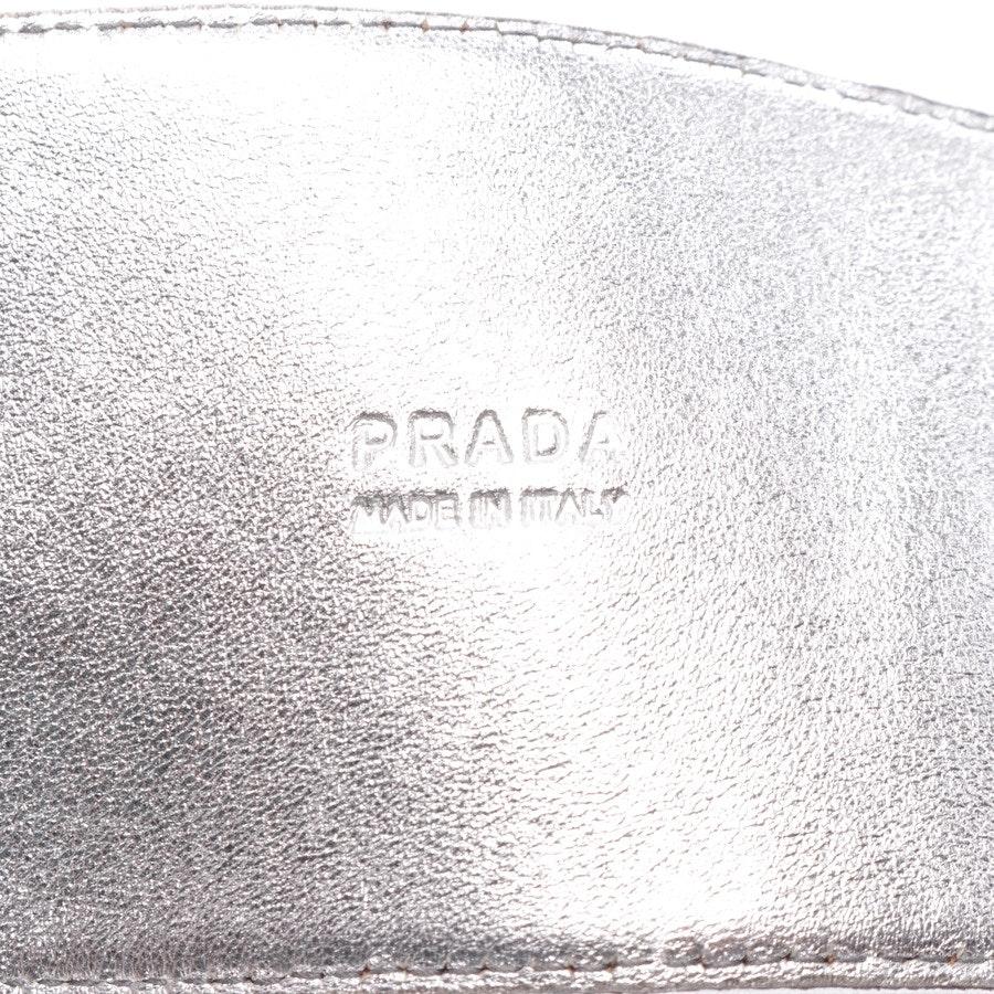 Taillengürtel von Prada in Silber Gr. 80 cm