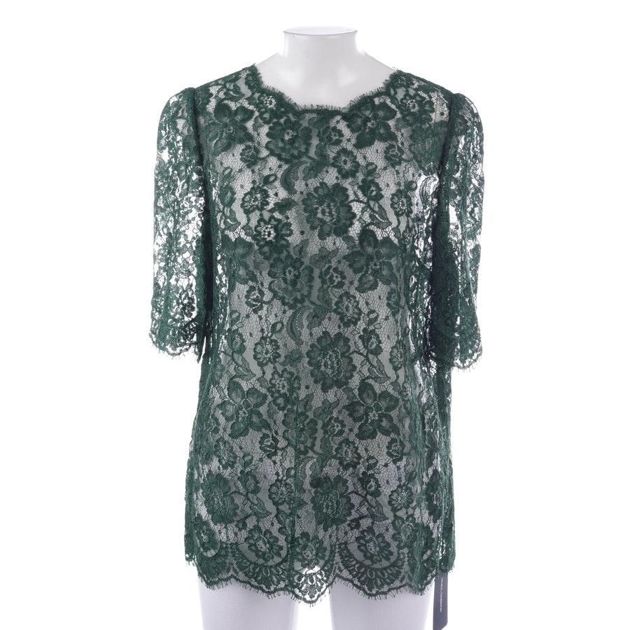 Spitzenshirt von Dolce & Gabbana in Dunkelgrün Gr. 40 IT 46 - Neu