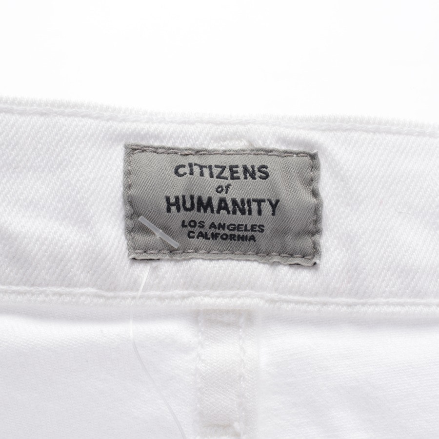 Jeans von Citizens of Humanity in Weiß Gr. W32 - Rocket Crop-Neu