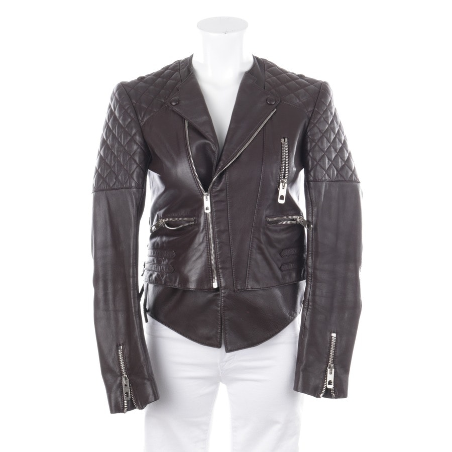 leather jacket from Balenciaga in mokkabrown size 36 FR 38