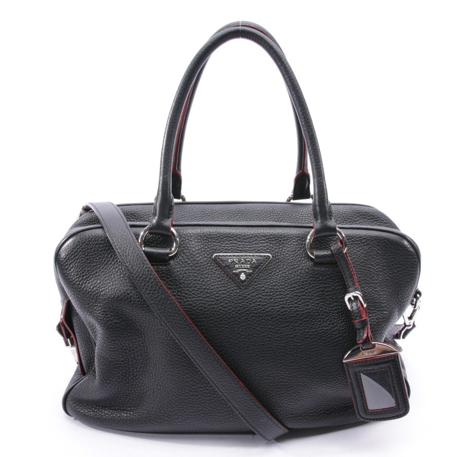 shoulder bag from Prada in black and red