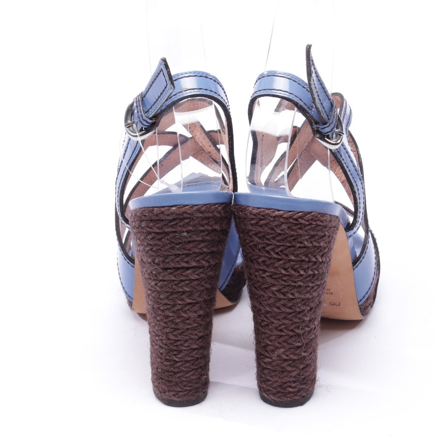 heeled sandals from Sergio Rossi in blue size D 39