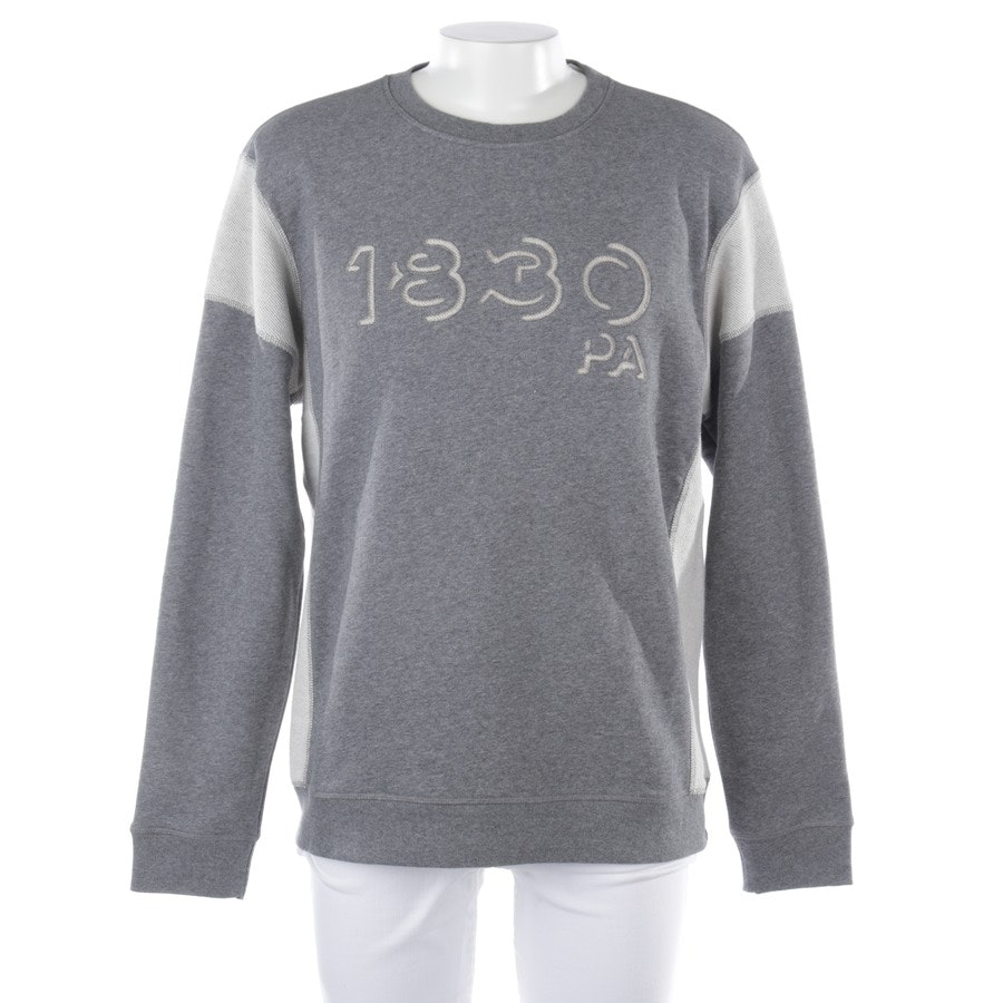 sweatshirt from Woolrich in grey mottled and white size L - new