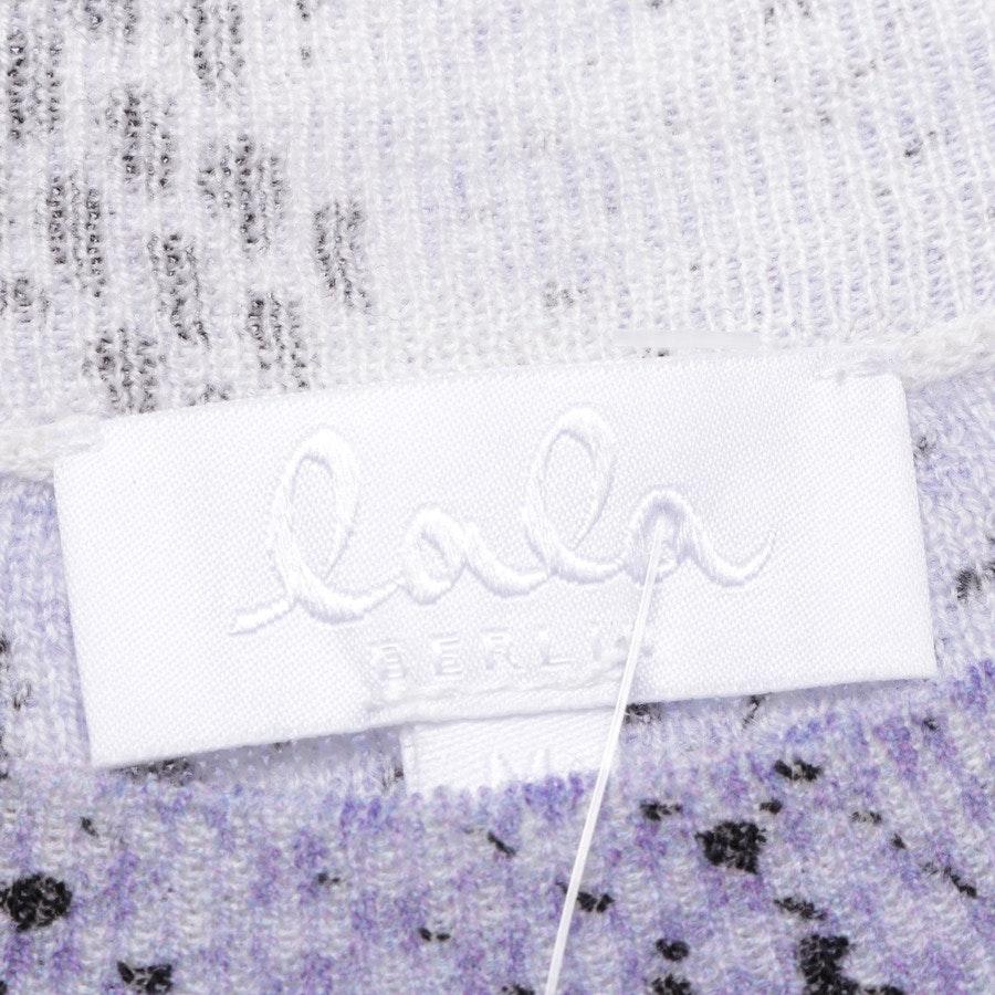 Wollpullover von Lala Berlin in Lila und Schwarz Gr. M