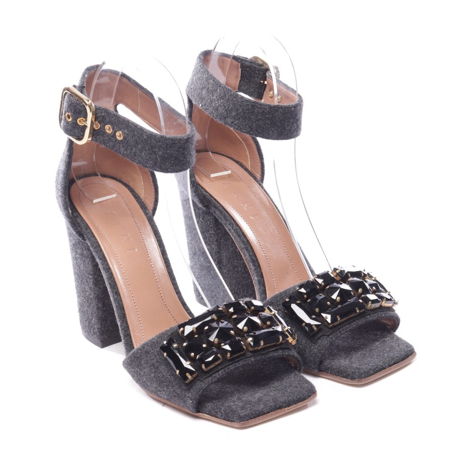 heeled sandals from Marni in grey size D 39