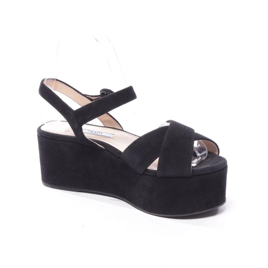 Sandaletten von Prada in Schwarz Gr. D 36,5 - Neu