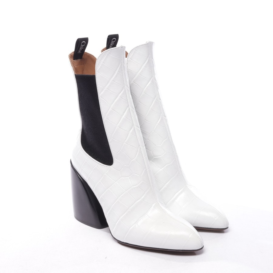 ankle boots from Chloé in white and black size EUR 36,5 - new