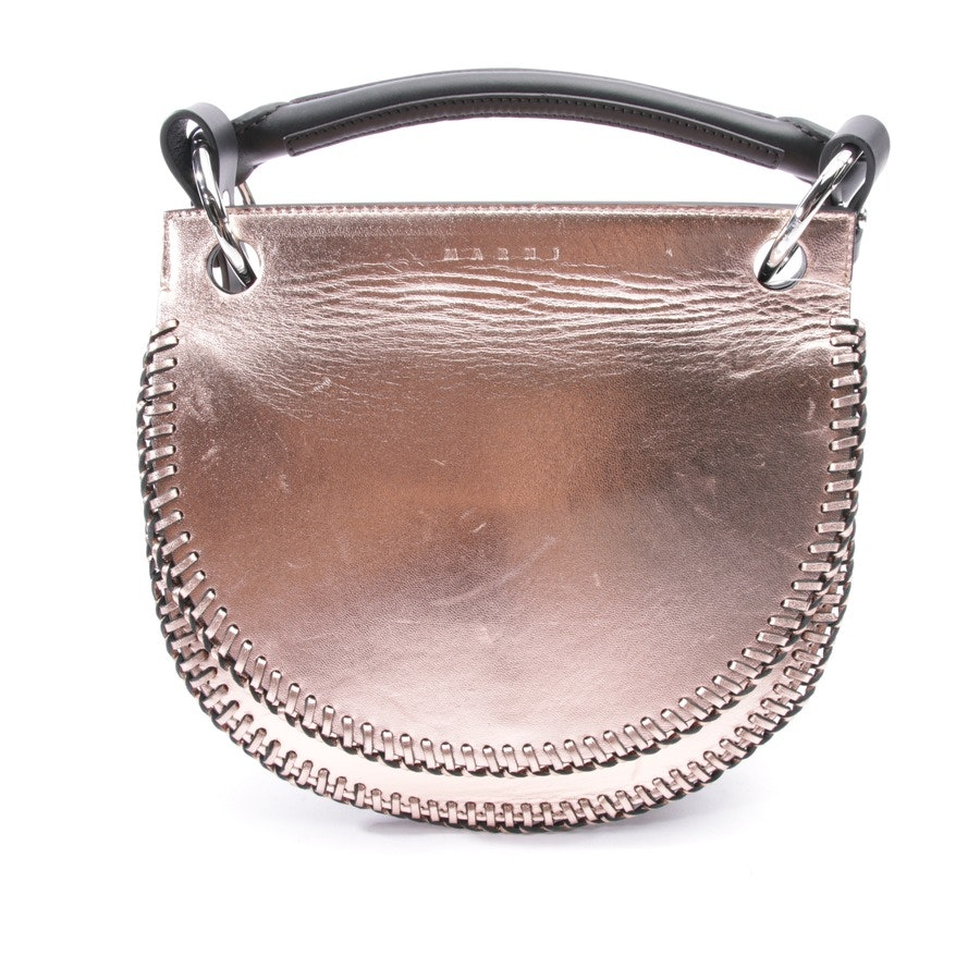 shoulder bag from Marni in salmon pink and black
