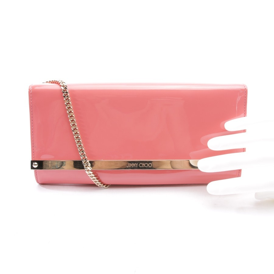 clutches from Jimmy Choo in coral red - new