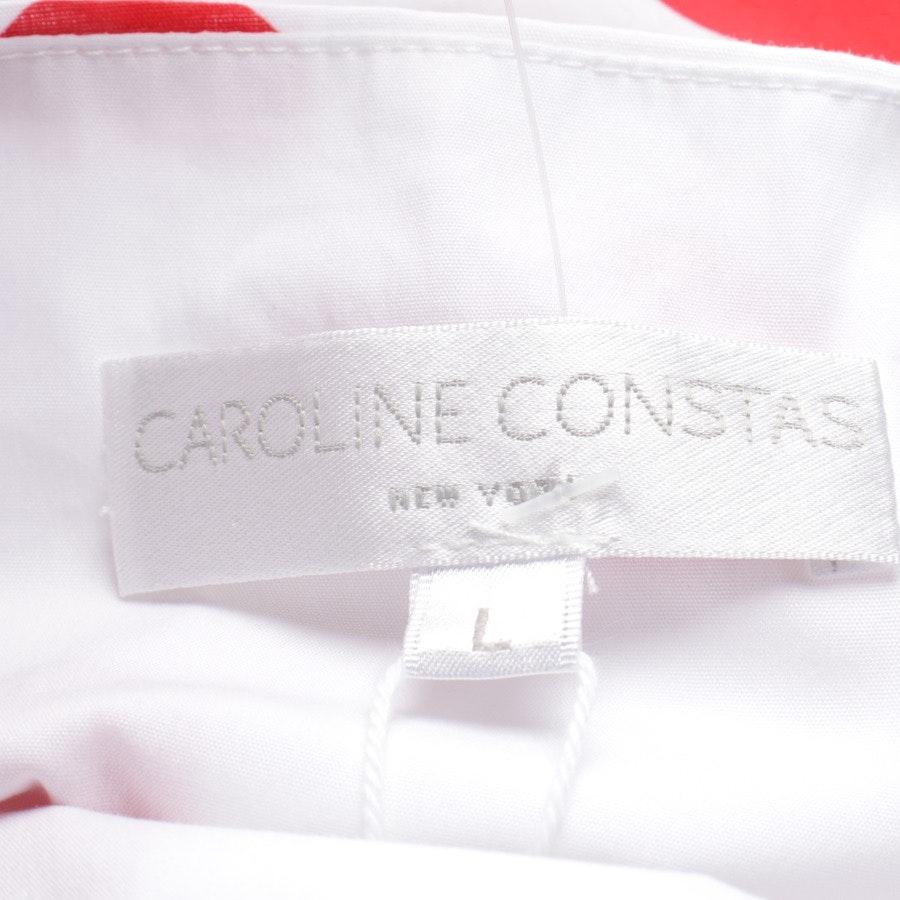 Kleid von Caroline Constas in Weiß und Rot Gr. L - Neu