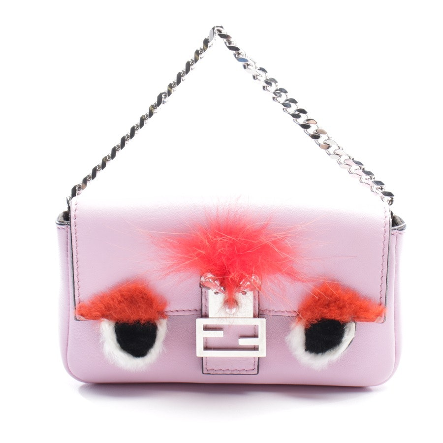evening bags from Fendi in pink - micro baguette