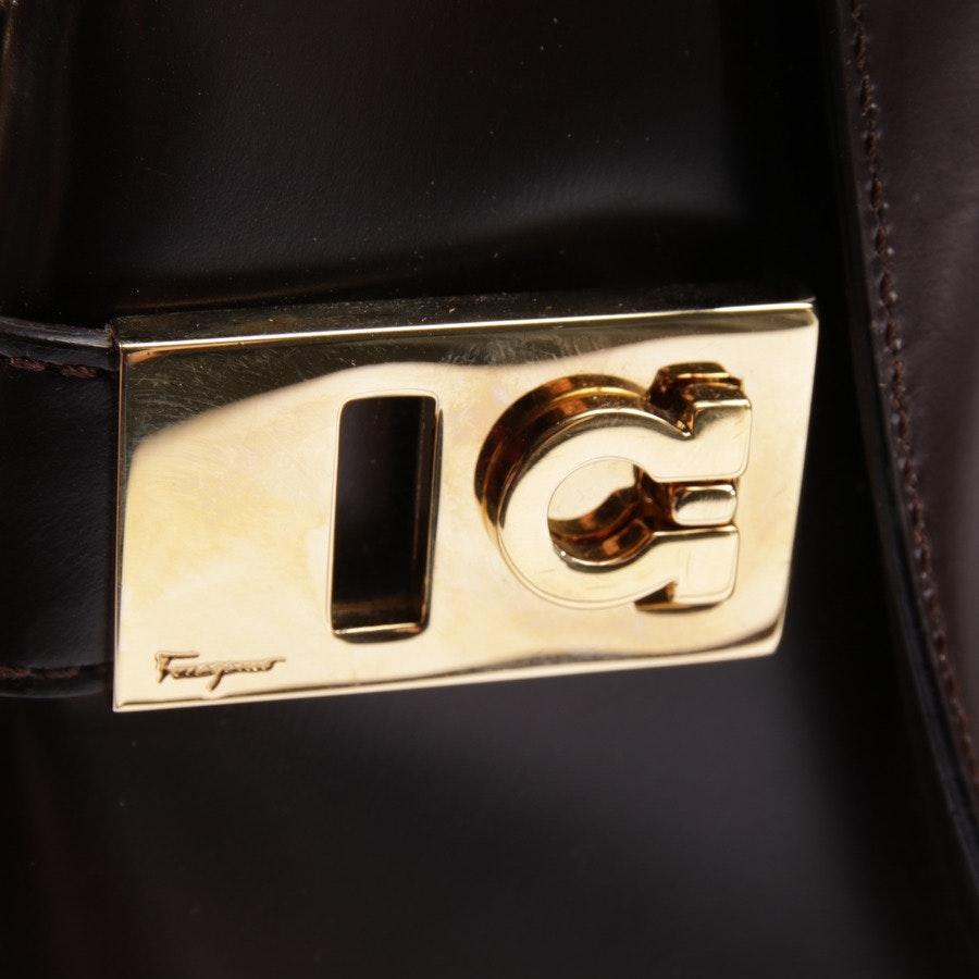 Handtasche von Salvatore Ferragamo in Dunkelbraun - Gancini 2 Way