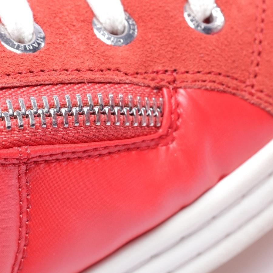 High-Top Sneaker von Chanel in Rot Gr. D 41