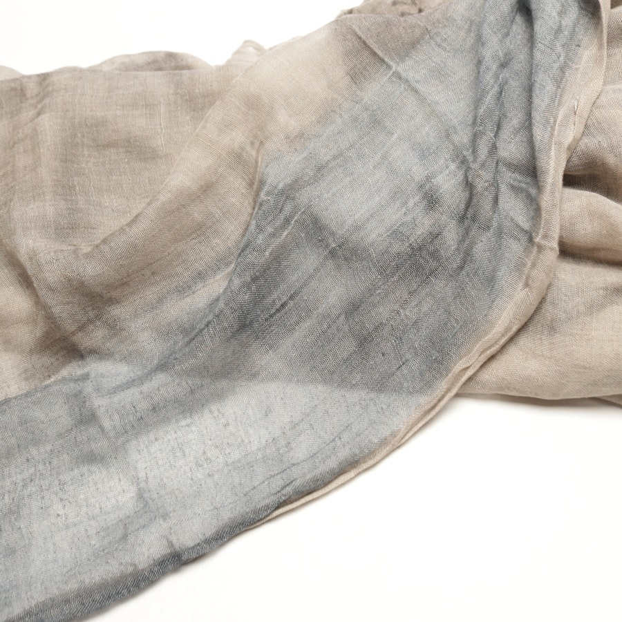 scarf from Faliero Sarti in taupe and blue