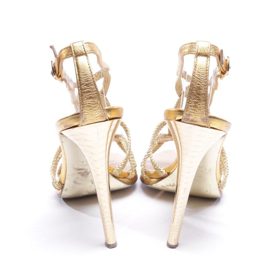Sandaletten von Roberto Cavalli in Gold Gr. D 40