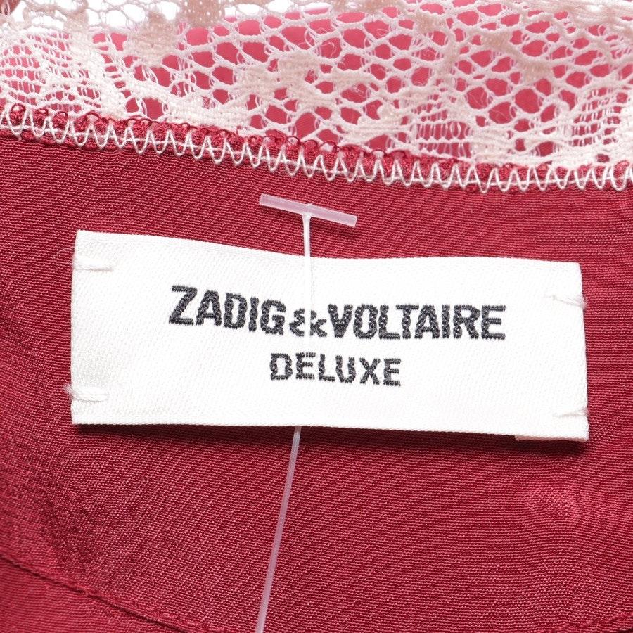 Seidentop von Zadig & Voltaire Deluxe in Weinrot und Rosa Gr. XS