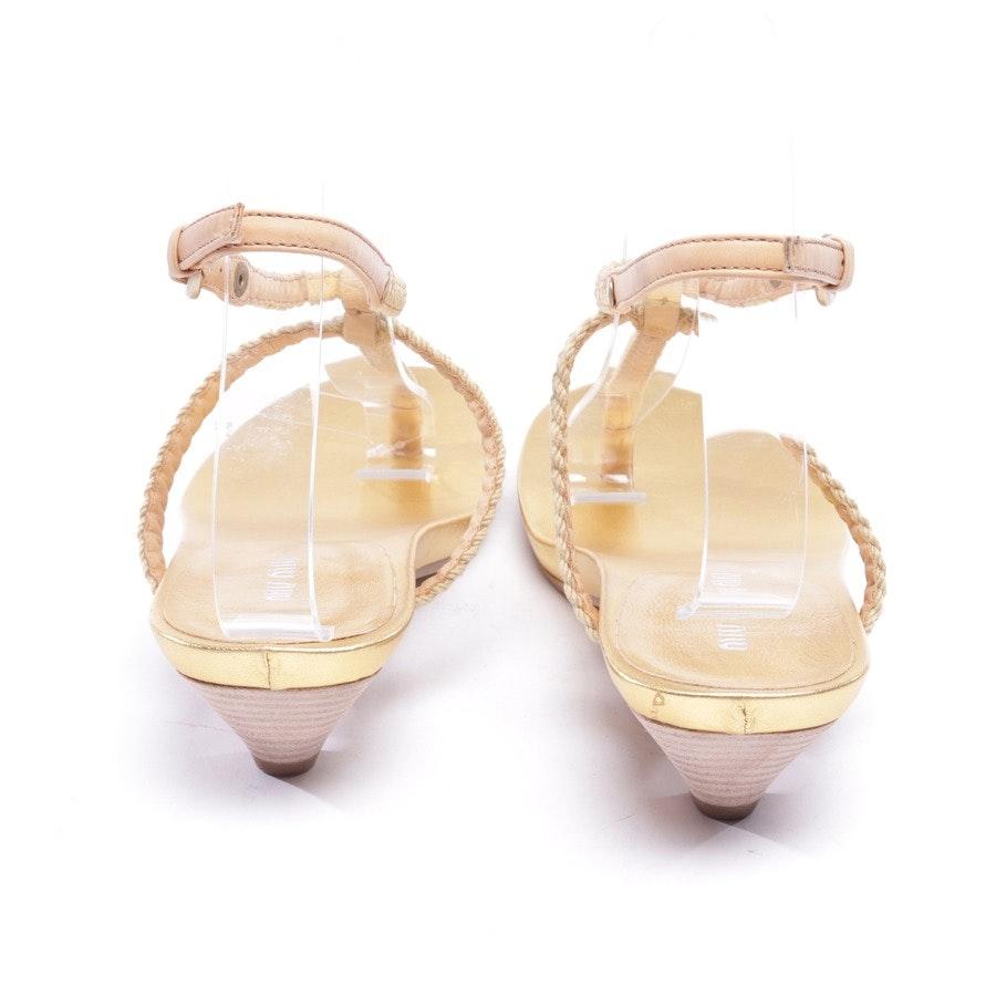 heeled sandals from Miu Miu in beige size D 36,5 - new