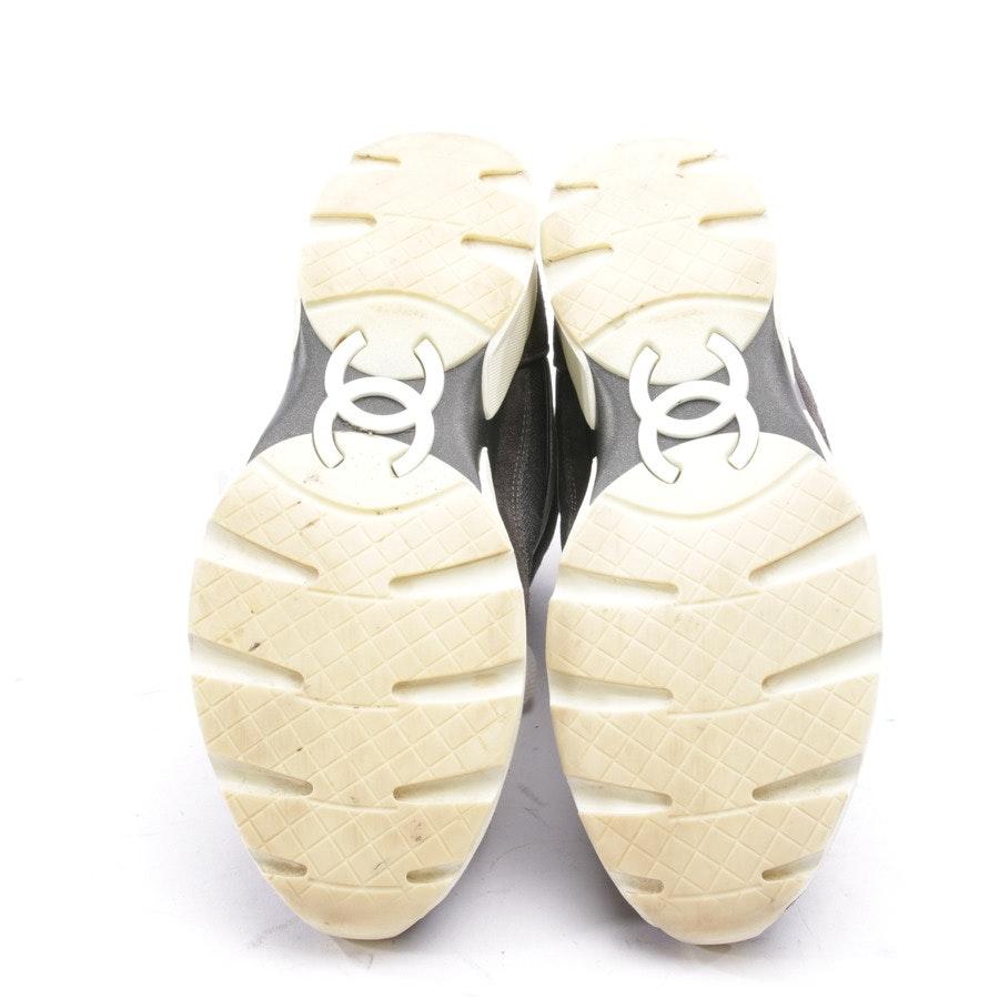 High-Top Sneaker von Chanel in Grau und Weiß Gr. D 38