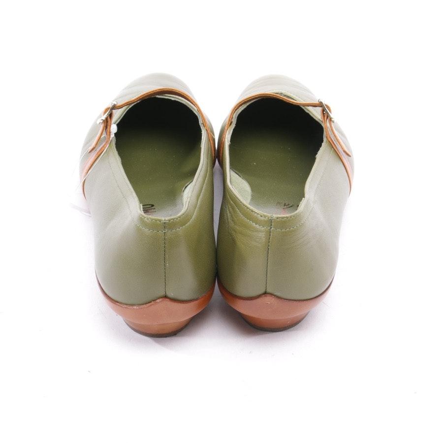 Ballerinas von Salvatore Ferragamo in Grün und Braun Gr. EUR 38 US 7,5