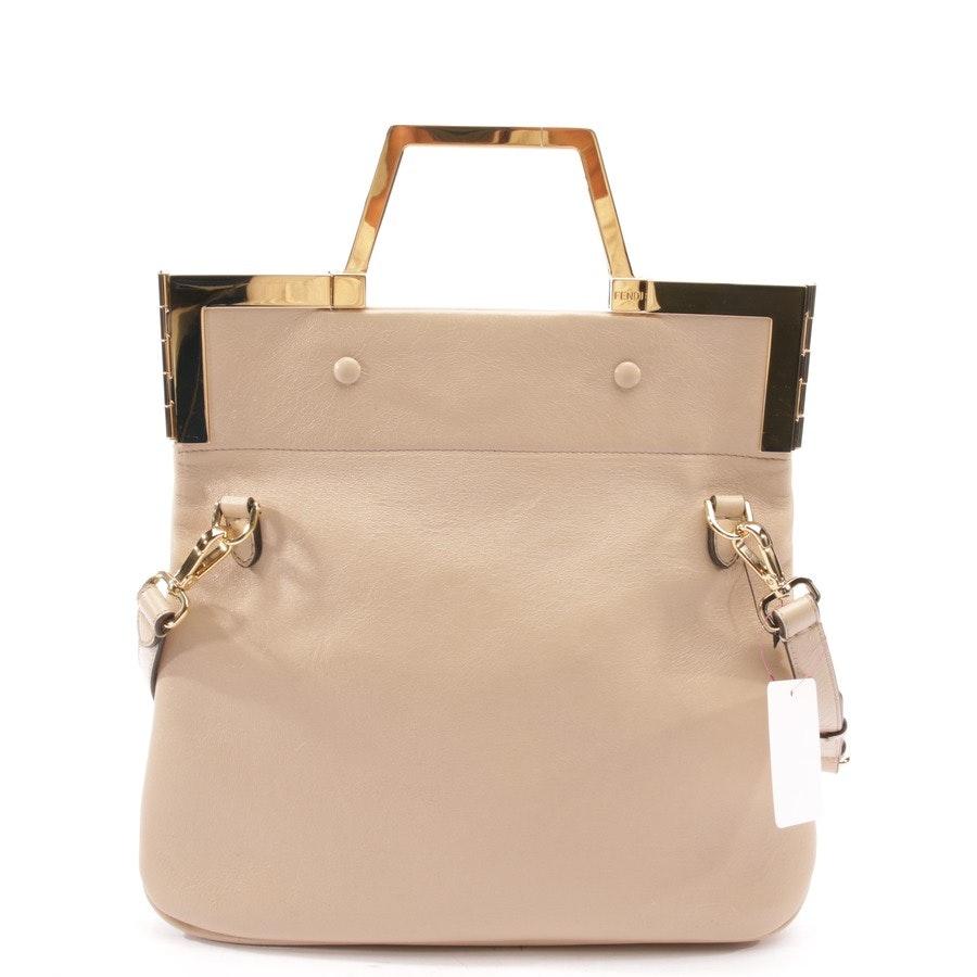 handbag from Fendi in beige - shopping flap small - new