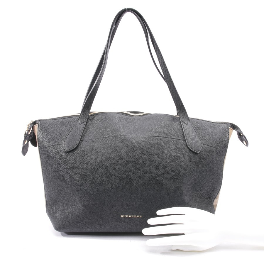 shopper from Burberry in black and beige