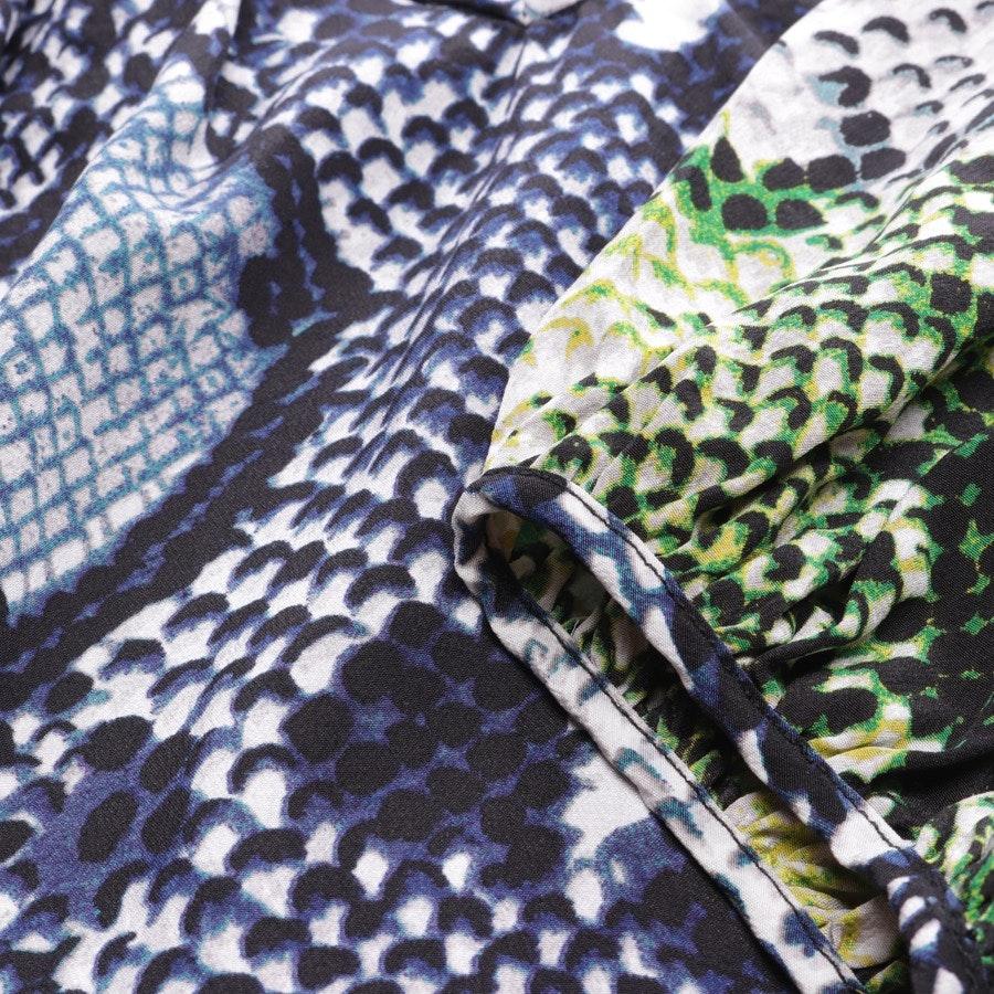 Seidenbluse von Diane von Furstenberg in Marineblau und Weiß Gr. 38 US 8