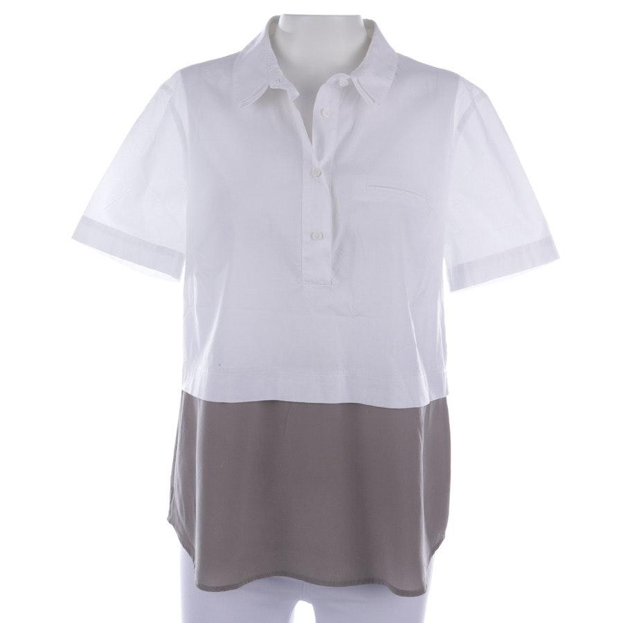 Bluse von Peserico in Weiß und Beige Gr. 38 IT 44