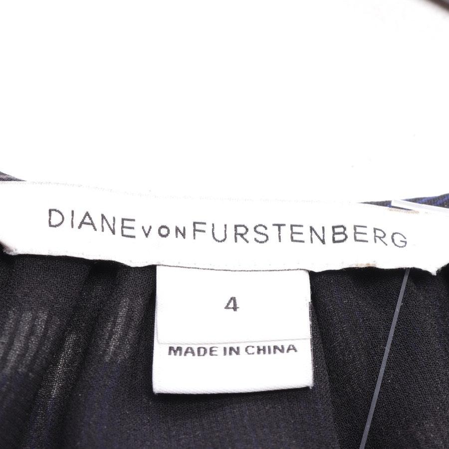 Seidenbluse von Diane von Furstenberg in Schwarz und Blau Gr. 34 / 4