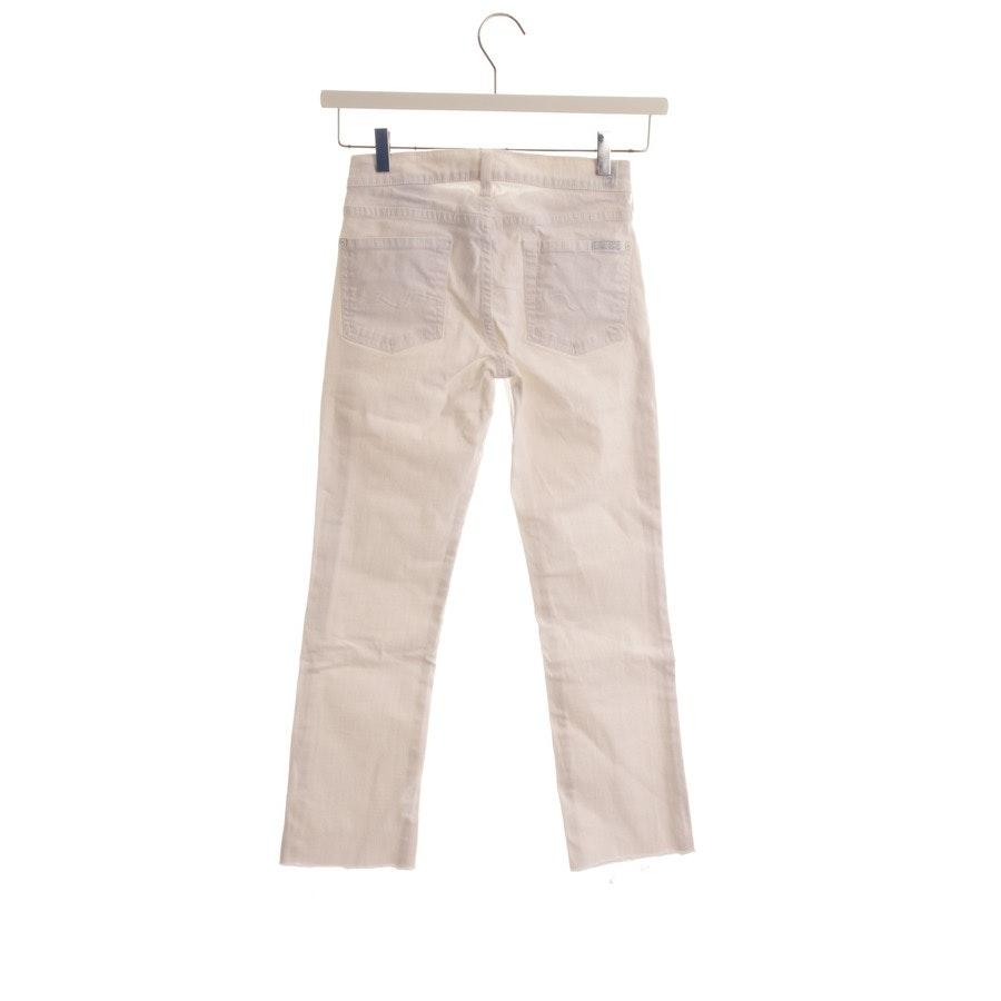 Jeans von 7 for all mankind in Weiß Gr. W24