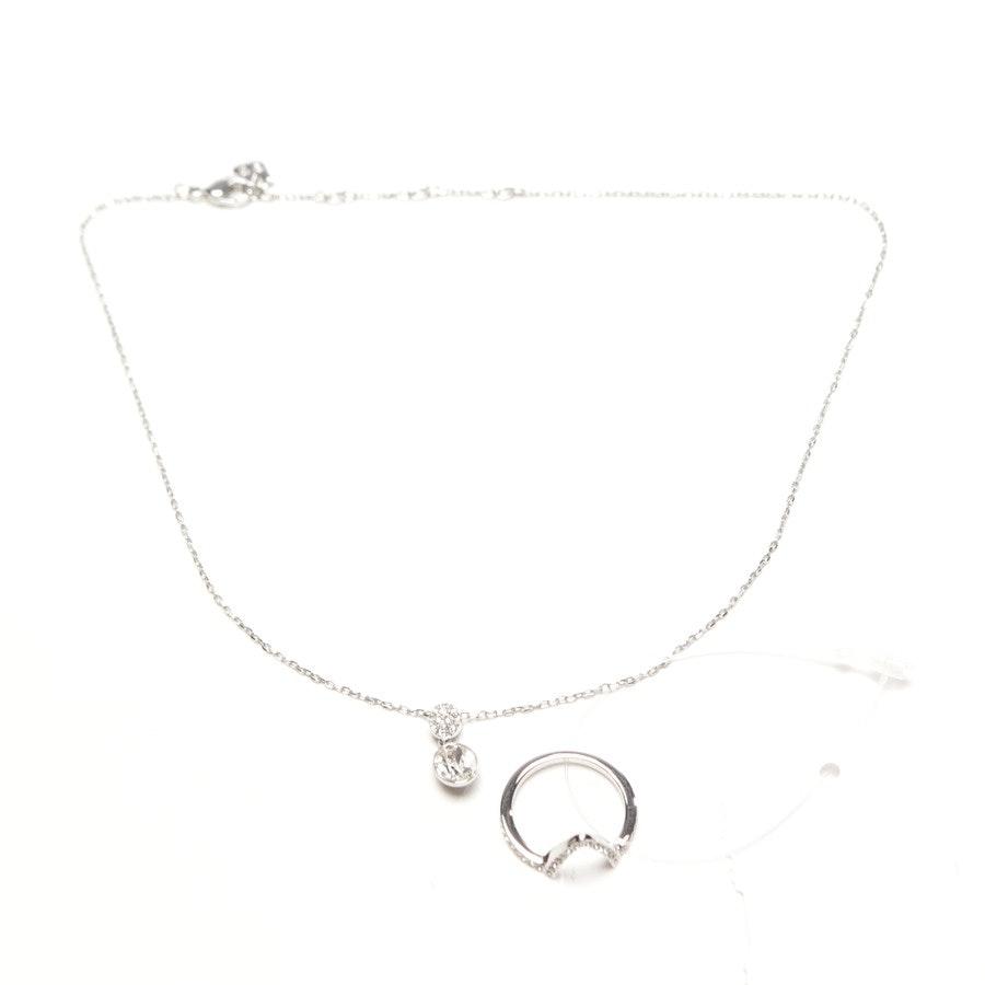Kette und Ring von Swarovski in Silber Gr. 52