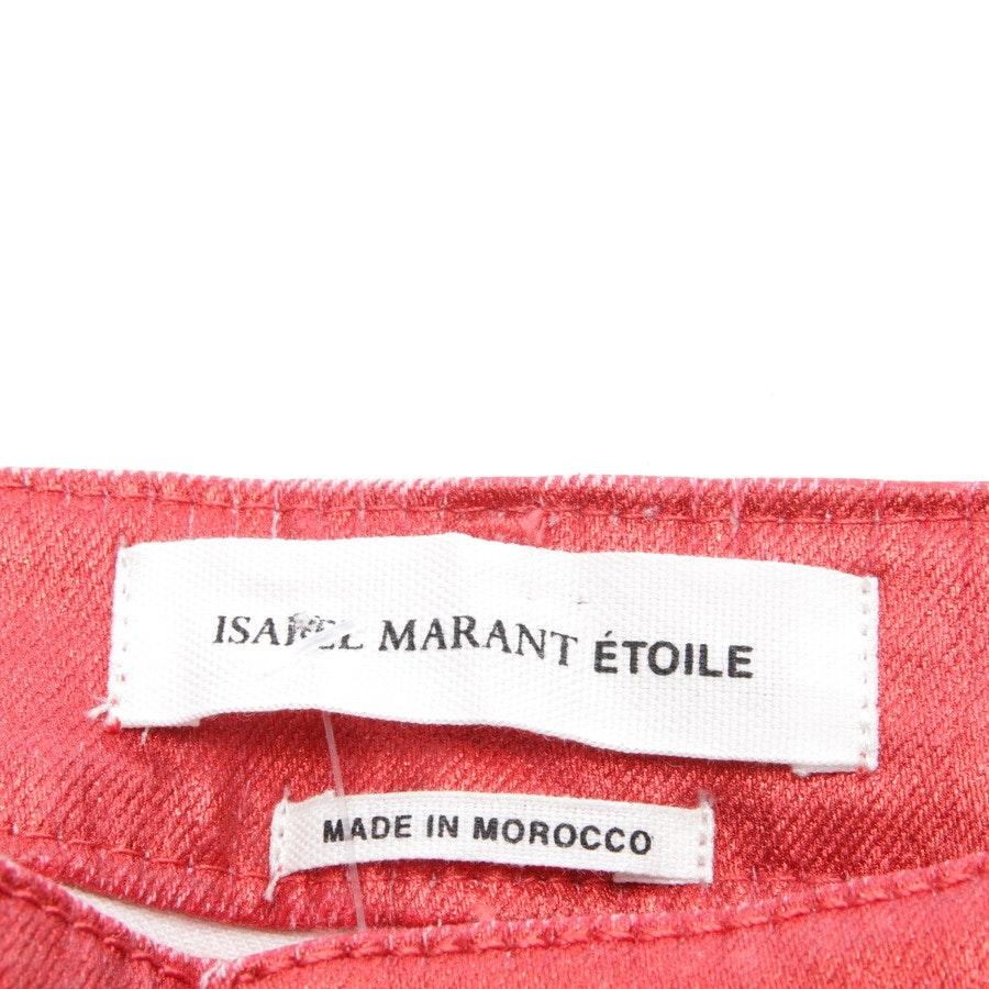 Jeans von Isabel Marant Étoile in Korallenrot Gr. 36 FR 38