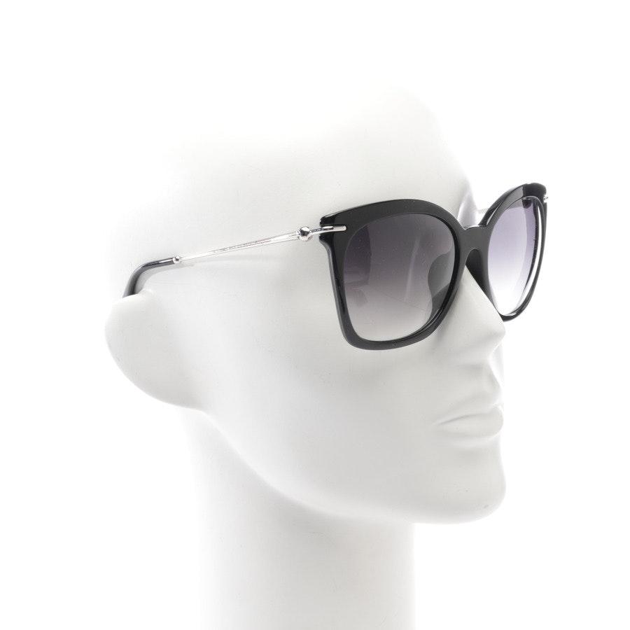 Sonnenbrille von Alexander McQueen in Schwarz und Silber - AMQ4284F/S