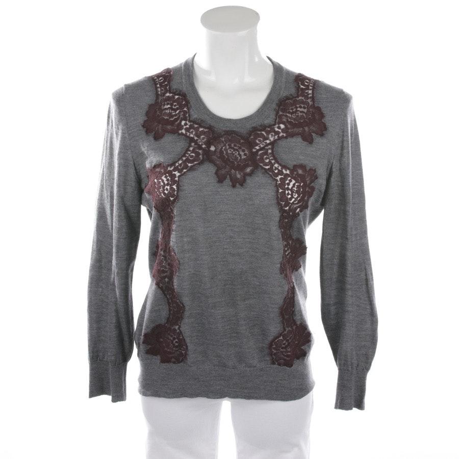 Strickpullover von Dolce & Gabbana in Aubergine und Grau Gr. 40 IT 46
