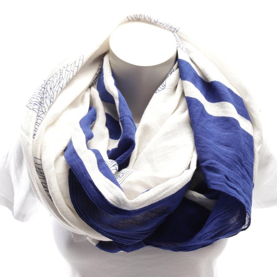 Schal von Closed in Kobalt und Weiß