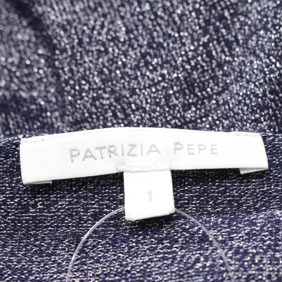 Jumpsuit von Patrizia Pepe in Blau und Silber Gr. 34 // 1
