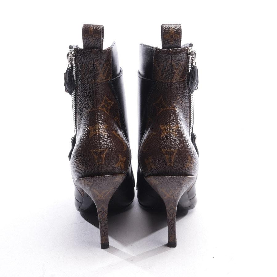 Stiefeletten von Louis Vuitton in Braun und Schwarz Gr. EUR 38,5 - Janet Ankle Boot