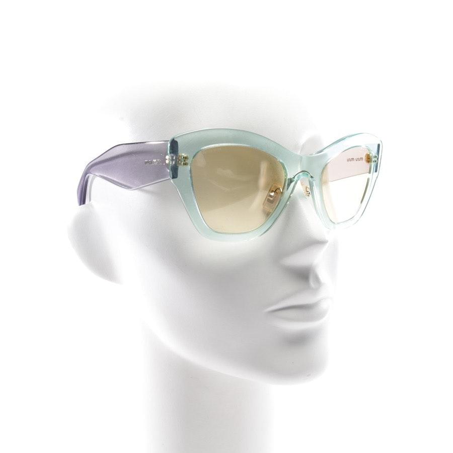 Sonnenbrille von Miu Miu in Mintgrün und Grau - SMU11P