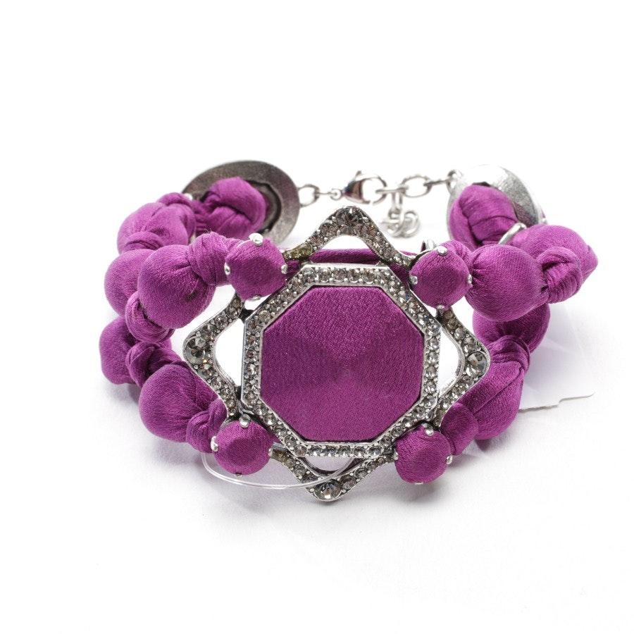 Armband von Lanvin in Lila und Silber