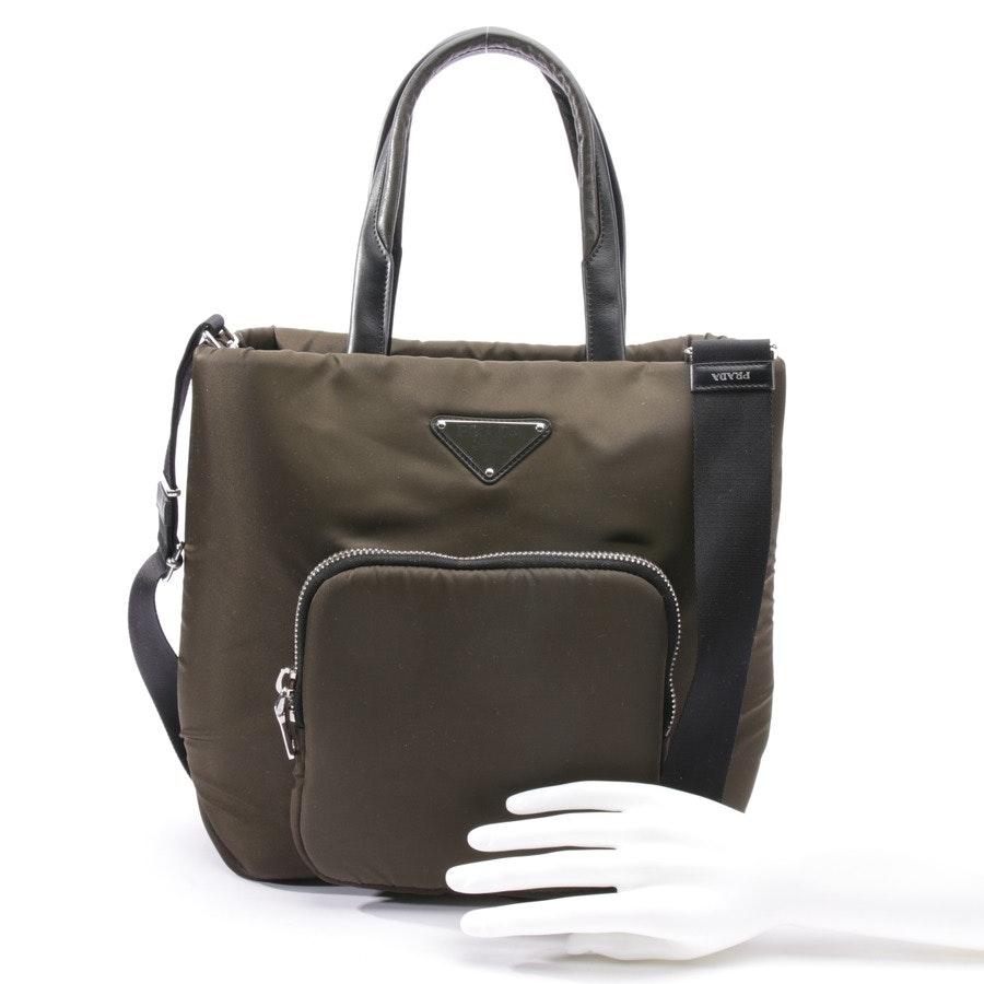 Handtasche von Prada in Khaki und Schwarz