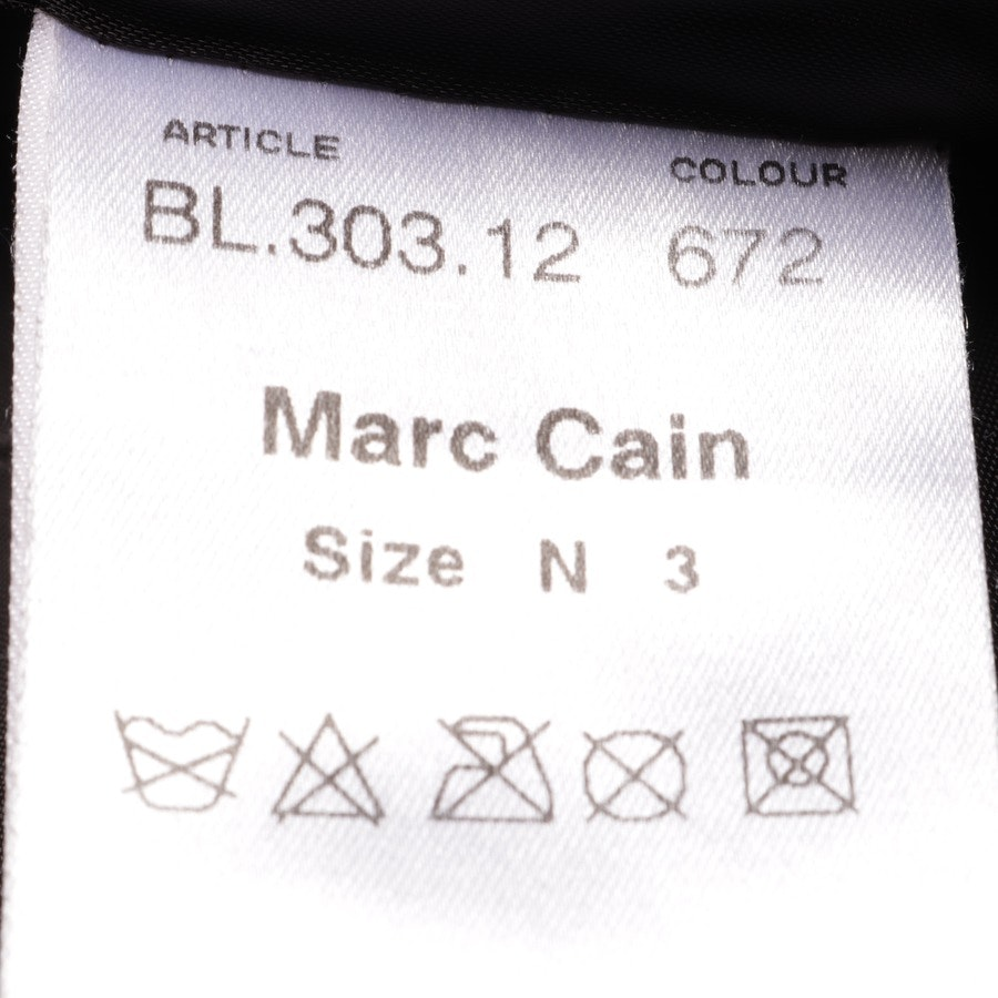 leather jacket from Marc Cain in dark brown and beige size 38 N 3