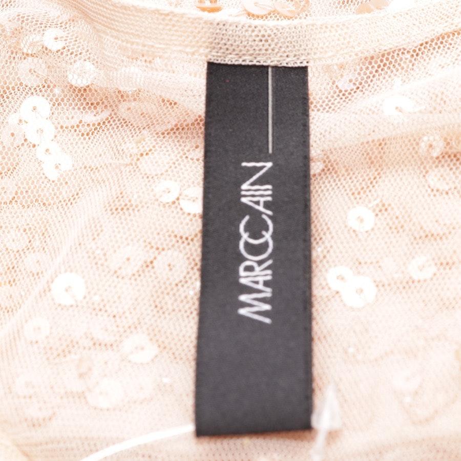 Paillettenkleid von Marc Cain in Apricot Gr. 36 M2