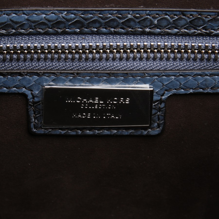 handbag from Michael Kors Collection in pigeon blue and black - new