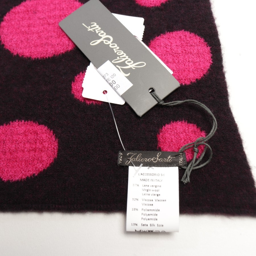 scarf from Faliero Sarti in magenta and black - new