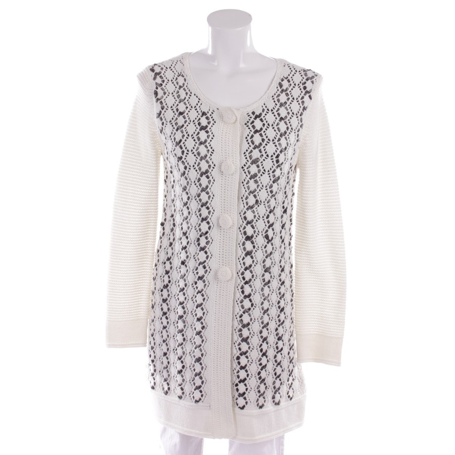 knitwear from Oui Moments in white and grey size DE 38