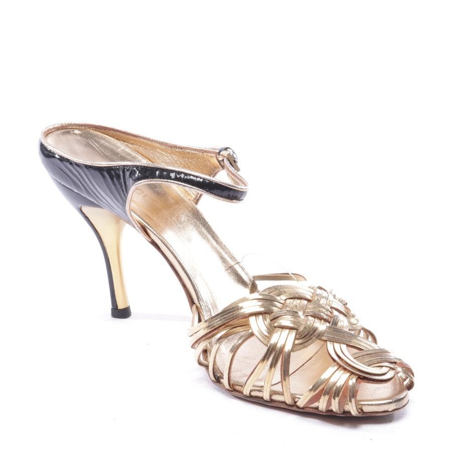 Sandaletten von Gucci in Gold Gr. D 40,5 UK 7,5