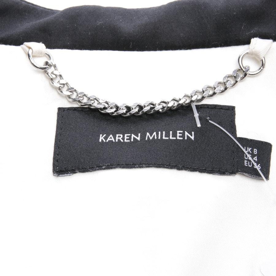 Blazerjacke von Karen Millen in Beigebraun und Schwarz Gr. DE 36